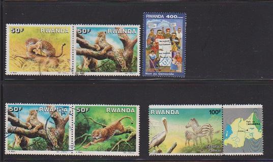 RWANDA SET OF STAMPS #1269- 94-95-96 .1394(6)  LOT#160