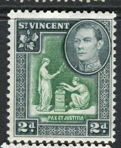 ST.VINCENT; 1938 early GVI issue fine Mint hinged 2d. value