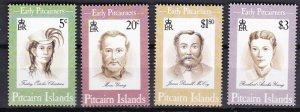 Pitcairn Islands 1994 Scott 399-402 Early Pitcairners MNH