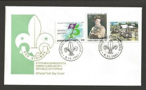 1982 Cyprus Scouts 75th anniversary BadenPowell FDC
