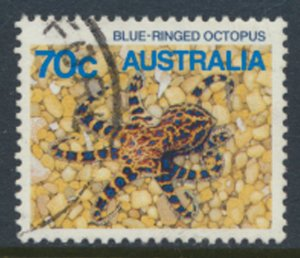 Australia SG 933  Used  SC# 916  Blue Ringed Octopus 1986  see scan