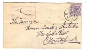 New Zealand Sc#62 Used on Cover to Union Bank of Australia 1892