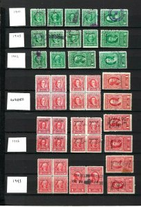 JASTAMPS: US Revenue Stamps Documentary & Stock Transfer 1941-1946 Free Shipping