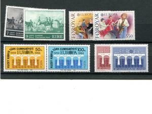 Europa Cept  Ireland, Faroe Isl., Turk.  Cyprus  Mint VF NH