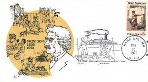 US Anniversary Mark Twains Birth 1972 Cover