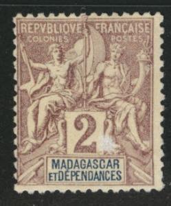 Madagascar Malagasy Scott 29 MNG from 1896-1906 NavCom set