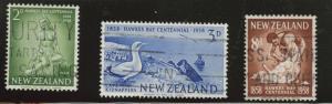 New Zealand Scott 323-325 Used 1958 set
