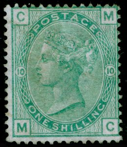 SG150, 1s green plate 10, M MINT. Cat £775. MC