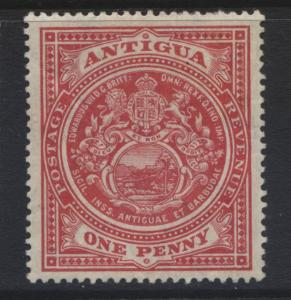 Antigua - Scott 32 - Seal of Colony -1908 - MLH - 1p Stamp - WMK - 3
