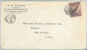 72391 -  NEWFOUNDLAND - POSTAL HISTORY:   Cover to USA 1945