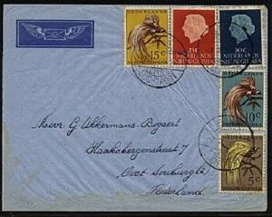 NETHERLANDS NEW GUINEA 1956 airmail cover ex BIAK - nice franking..........19431