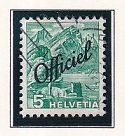 Switzerland   #O20  used  1942  official stamps  5c