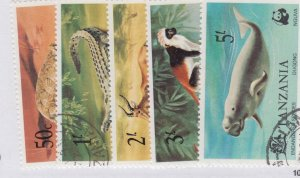 Tanzania #82 to 86 --    nice cancels used Cat $12.50