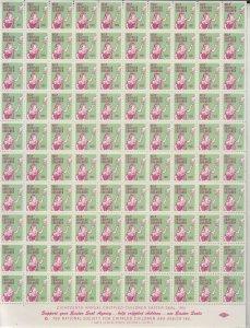 USA - 1951 Easter Seals sheet (10*10)