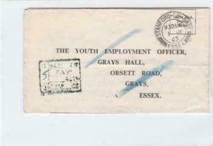 england  1963 more to pay slogan cancel  stamps cover ref r14640