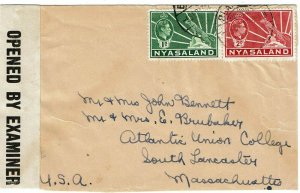 Nyasaland 1943 Blantyre cancel on cover to the U.S., censored