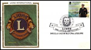 Isle of Man Lion's Club Convention 1981 Colorano Cover