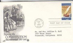 1987, 200th Anniv. Signing the Constitution, Artcraft/PCS, FDC (E8680)