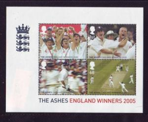 Great Britain Sc 2320 2005 Winner the Ashes stamp sheet mint NH