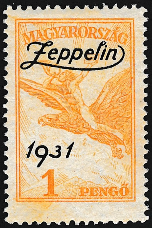 Zeppelin, Hungarian  Stamp, MH