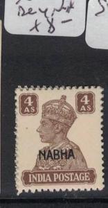 India Nabha SG 114 MNH (4dro)