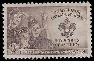 #995 3c 2nd National Boy Scout Jamboree 1950 Mint NH