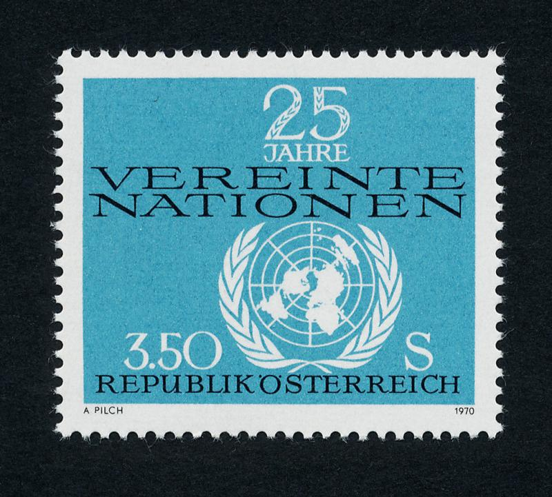 Austria 884 MNH United Nations, Map