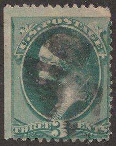 USA stamp, Scott# 158/184, used, hinged, single stamp, #x-74