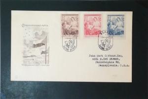Czechoslovakia 1948 V Praze Series First Day Cover - Z3498