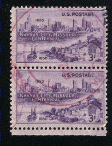 USA #994   Pair   used 1950 PD
