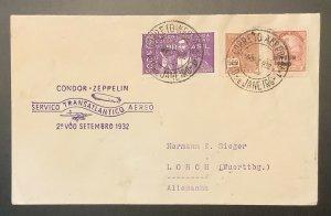 Brazil, 1932, Zeppelin Flight Cover To Germany, Proper Cachet, VF