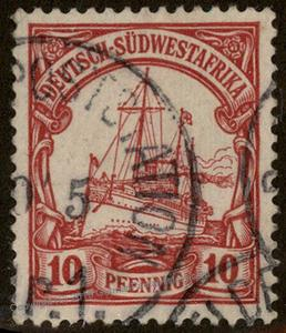 Germany SW Africa DSWA Herero War Used Feldpost Nr 1 Small Yacht Stamp 76964