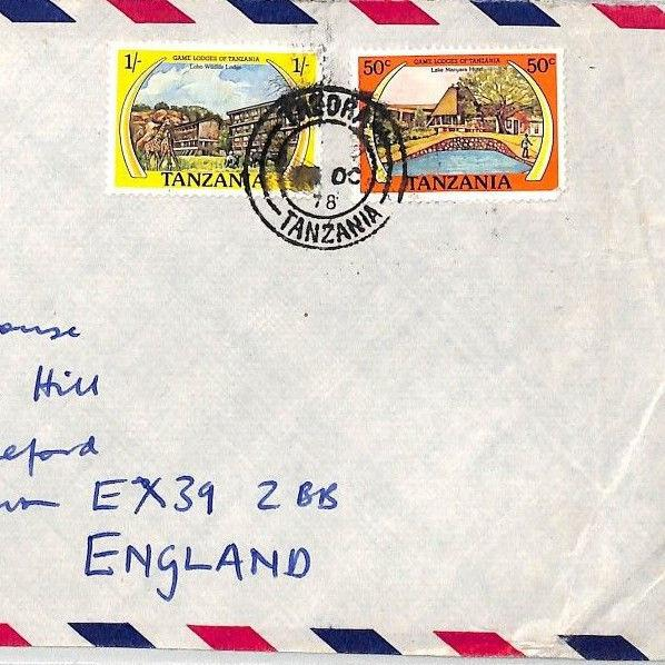 BT277 1978 Tanzania *Tabora* Commercial Air Mail Cover {samwells}PTS