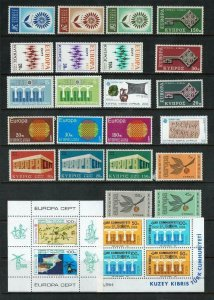 Cyprus and Turkish Cypriot Posts Europa stamps mostly MNH. Cat approx £78