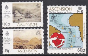 Ascension Sc #266-268 MNH