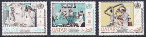 Qatar 134-136 Mint OG 1968 World Health Organization