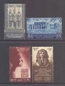 Egypt Scott B9/B12 - SG334/337, 1947 Fine Arts Exhibition Set MH*