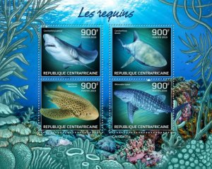 C A R - 2019 - Sharks - Perf 4v Sheet - MNH