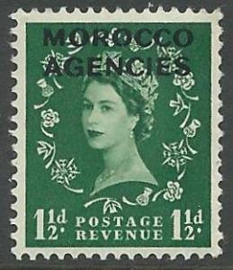 Great Britain-Morocco # 272 QE II  1½d. (1) Unused VLH