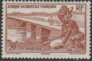 French West Africa, #37 Unused From 1947