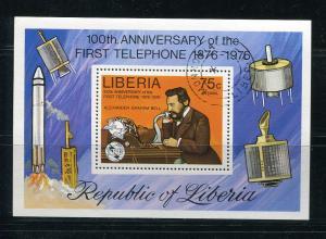 Liberia 1976 Sheet Sc C212 Used/CTO   First Telephone