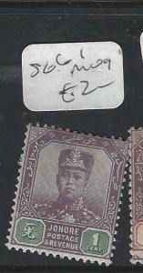 MALAYA JOHORE  (PP0302B)   SULTAN  1C  SG 61   MOG