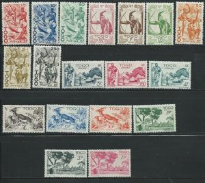 Togo #309-326 Set Complete all  (M) accept 316 (U) CV $29.45