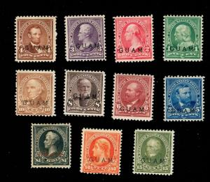 MOMEN: US GUAM STAMPS #1-12 COMPLETE MINT OG H SET