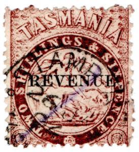 (I.B) Australia - Tasmania Revenue : Stamp Duty 2/6d (large type OP)