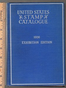 1936 Scott United States Stamp Catalog TIPEX edition 290 pgs hardbound