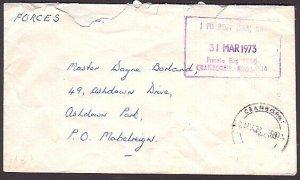 RHODESIA 1973 Bush War Official cover - 1 Fd Regt Cranborne................34996