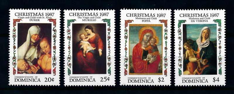 [76459] Dominica 1987 Paintings Christmas Madonna Virgin with Child  MNH