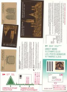 Canada - 1985 to 1988 Selection of 8 Different Booklets