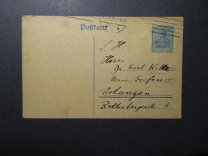 Germany 1921 30Pf Germania Postal Card Used  - Z12333